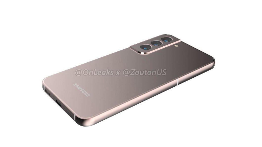 Suposto Samsung Galaxy S22 (Imagem: Reprodução/OnLeaks/Zouton)