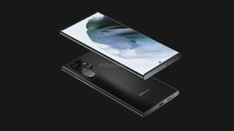 Samsung Galaxy S22 Ultra pode trazer espaço para guardar S Pen