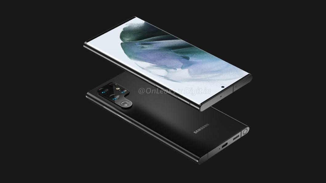 Possível Samsung Galaxy S22 Ultra (Imagem: Reprodução/OnLeaks/Digit)