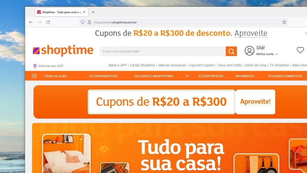 Shoptime online store by Americanas