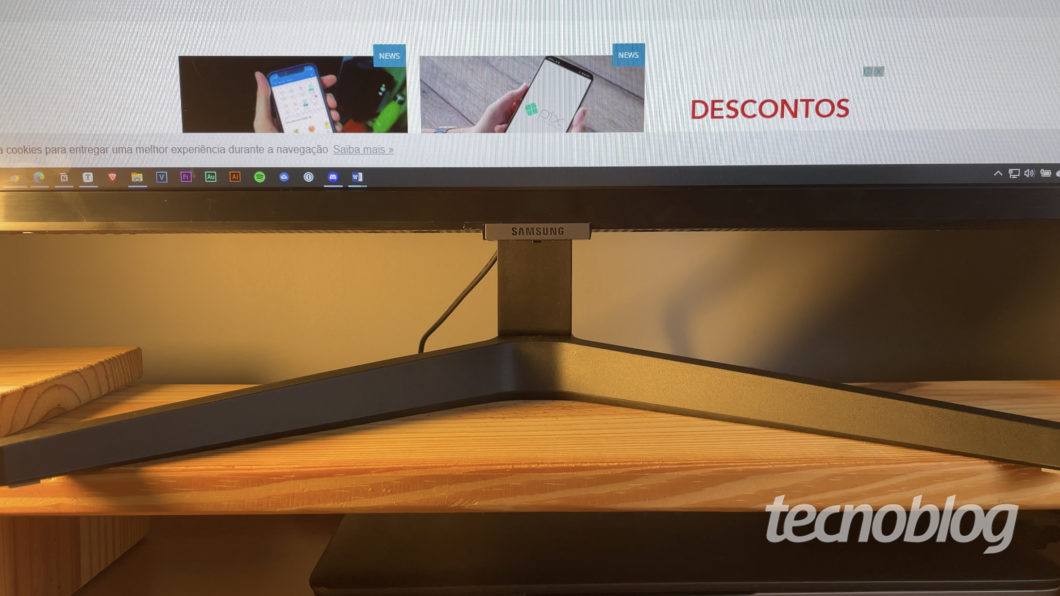 Smart Monitor Samsung M5 (Imagem: Darlan Helder/Tecnoblog)