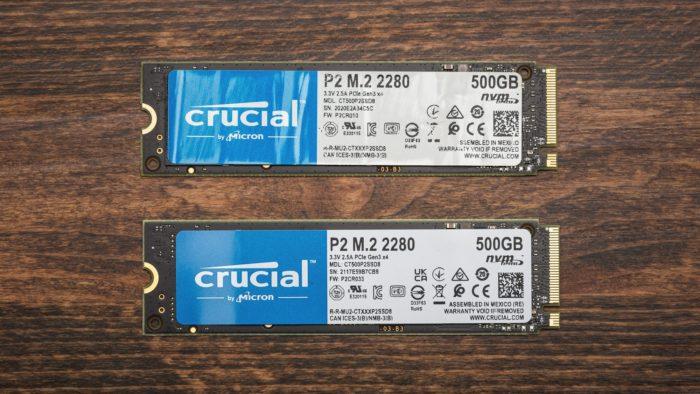 SSDs Crucial P2: duas versões do mesmo produto (imagem: Tom's Hardware)