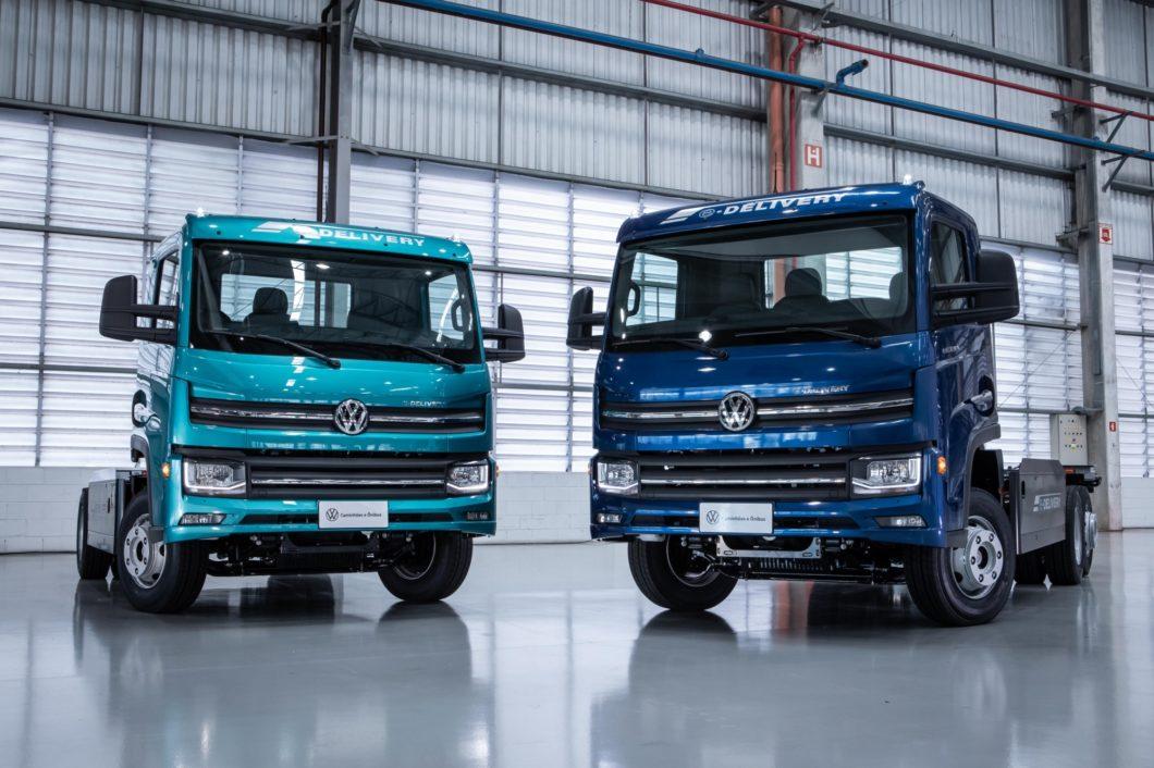 As duas versões do e-Delivery (imagem: divulgação/Volkswagen)