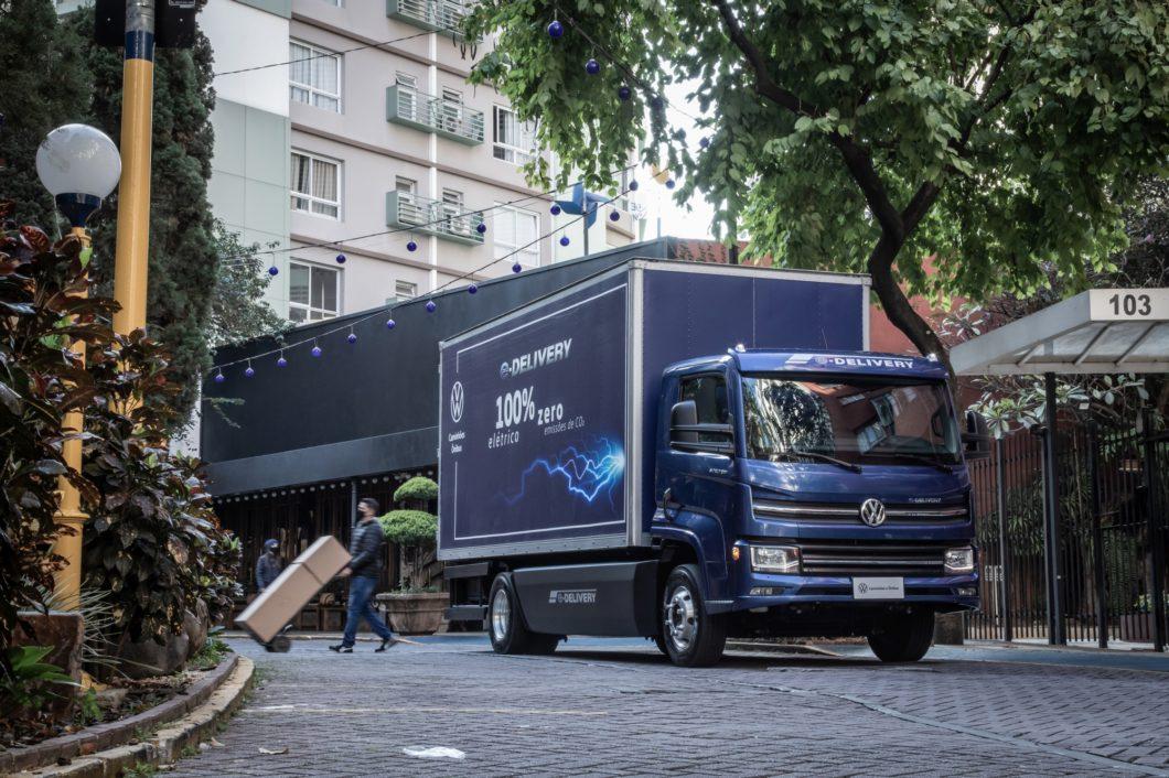 O e-Delivery foi desenvolvido para operações urbanas (imagem: divulgação/Volkswagen)