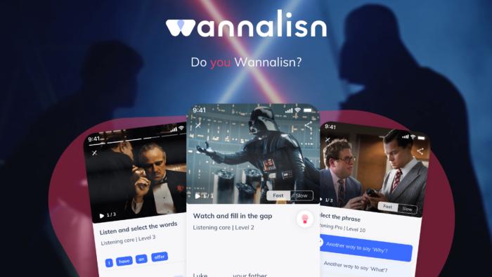 wannalisn aplicativo para estudar inglês