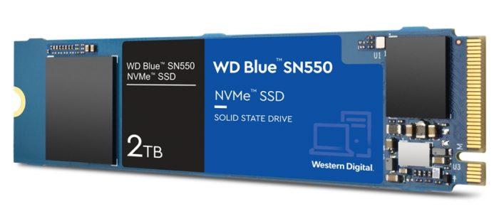SSD WD Blue SN550 de 2 TB (imagem: divulgação/Western Digital)