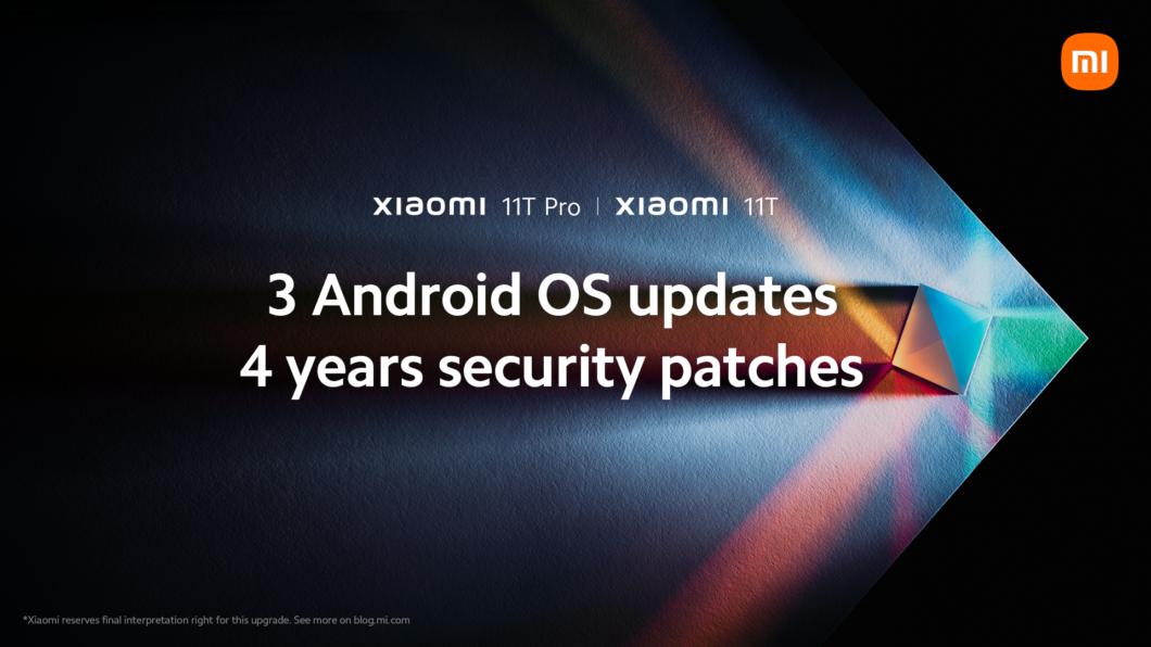 Xiaomi promete três anos de atualizações de Android para 11T e 11T Pro (Imagem: Divulgação/Xiaomi)
