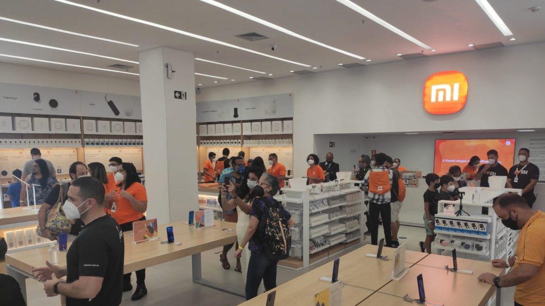 Inauguração da loja oficial da Xiaomi no BarraShopping (Imagem: Divulgação)