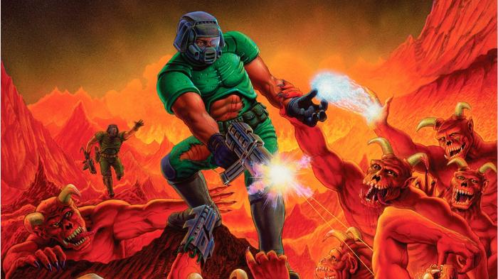 Capa original do Doom de 1993 (Imagem: Microsoft/Divulgação)