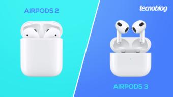 Comparativo: AirPods 3 vs AirPods 2; qual é a diferença?