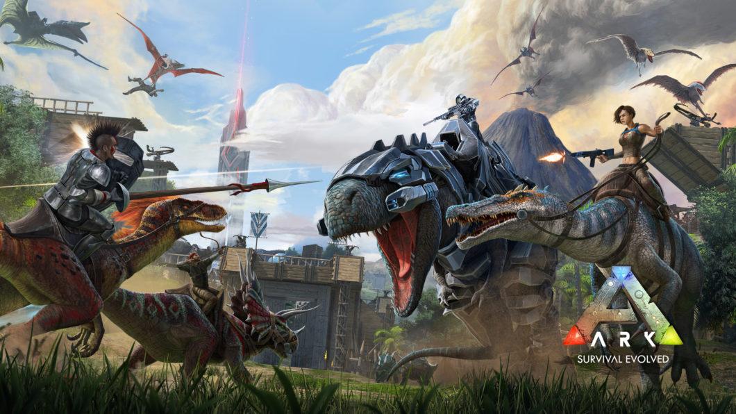 Imagem de divulgação do jogo Ark Survival Evolved