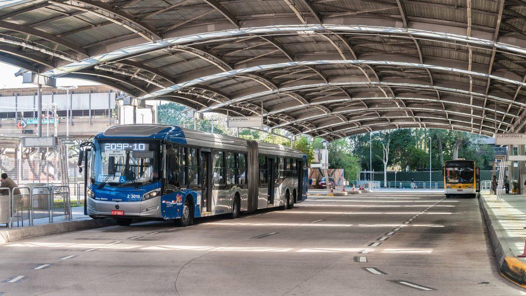 Terminal de ônibus em São Paulo