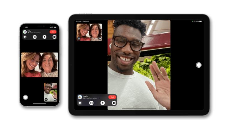 FaceTime pelo navegador permite convidados com aparelhos Android e Windows (Imagem: Divulgação/Apple)