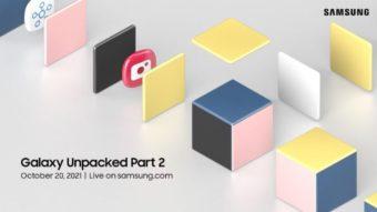Samsung marca evento Galaxy Unpacked 2 para 20 de outubro