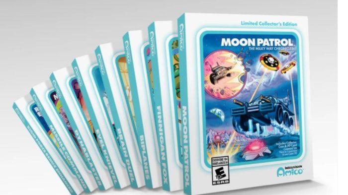 Captura de tela com jogos do Intellivision Amico