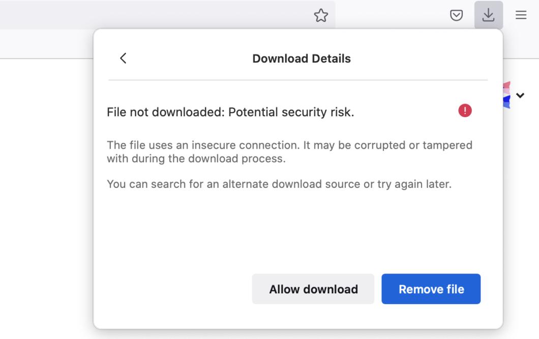 Firefox 93 desencoraja downloads de sites sem criptografia