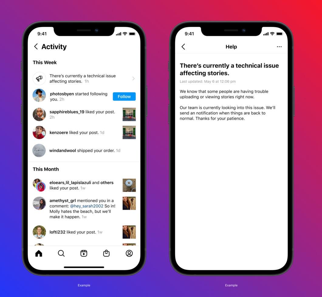 Instagram vai avisar usuários quando serviço estiver fora do ar ou instável miniatura