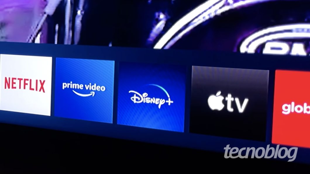 Netflix, Amazon Prime Video, Disney+, Apple TV+ e Globoplay em TV da Samsung (Imagem: Paulo Higa/Tecnoblog)