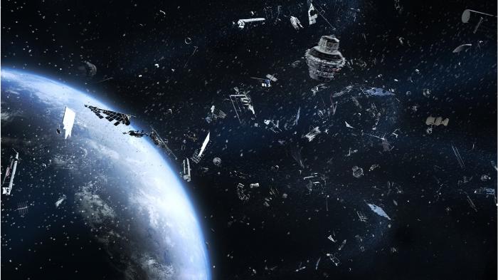 Detritos espaciais sem utilidade na órbita da terra (Imagem: Canva Pro/Divulgação)