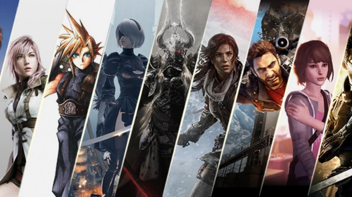 Personagens de diversas franquias da Square Enix (Imagem: Square Enix/Divulgação)