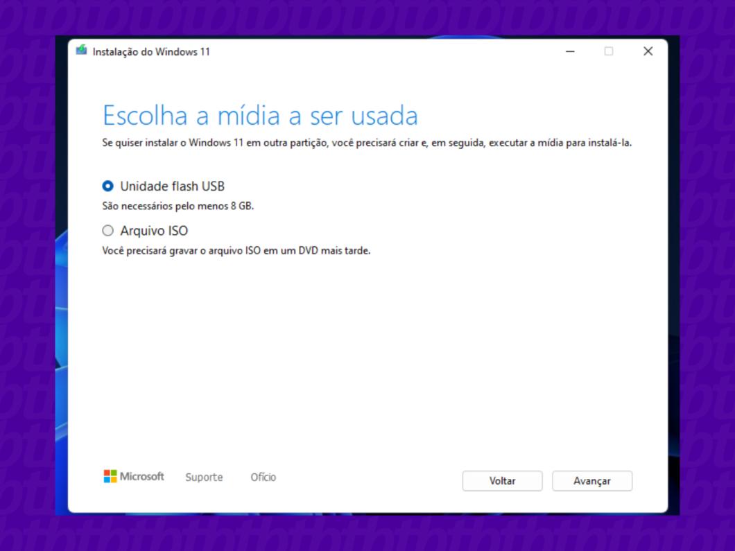 Passo a passo novo Windows