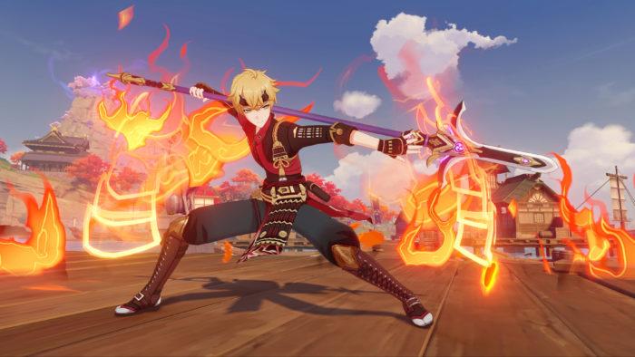 Thoma is the new four-star Pyro spearman (Image: Press Release/ Genshin Impact)