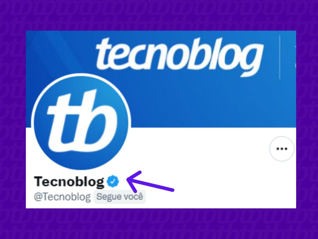 screenshot com destaque para o nome de usuário do tecnoblog no twitter