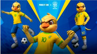 """Free Fire ganha skin do """"Canarinho Pistola"""" da seleção brasileira"""