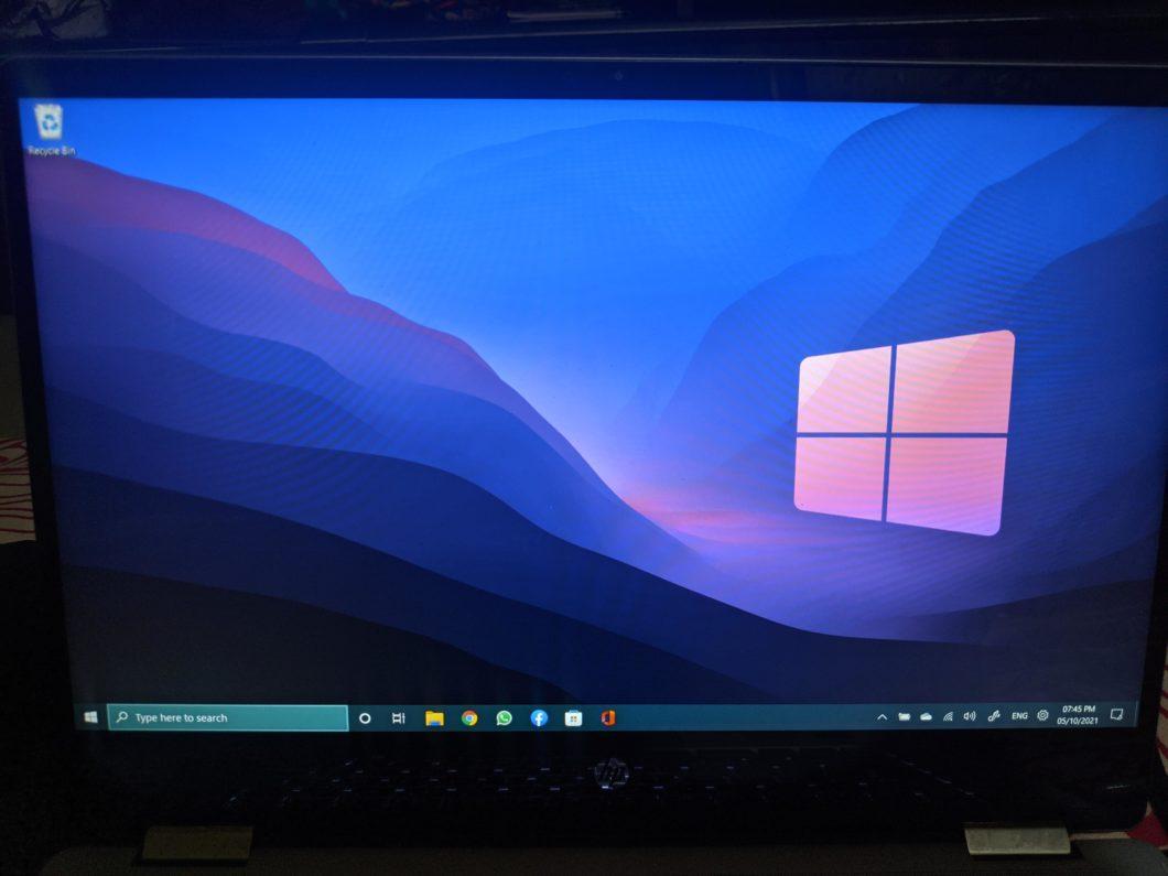 O Windows é 11, mas a barra de tarefas é 10