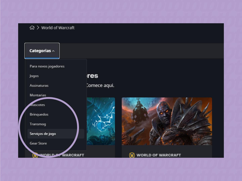 alternar nome World of Warcraft